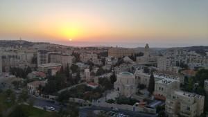 Sunrise in Jerusalem, Israel October 2015, Photo by Lisa Niver