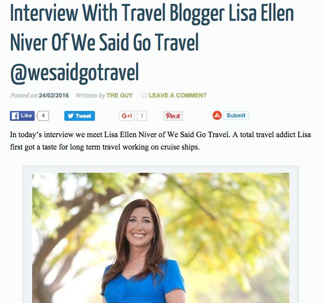 Interview feb 2016 travel blogger interview