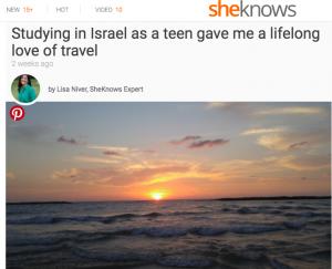 Sheknows Lisa Niver Tel Aviv Israel article