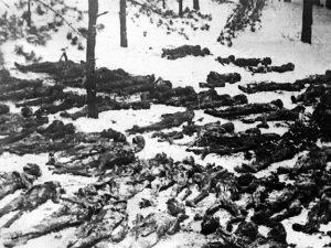 Victims of Nazi Terror in the Darnitsa concentration camp, Kiev, Ukraine