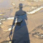 My shadow at Newport Beach