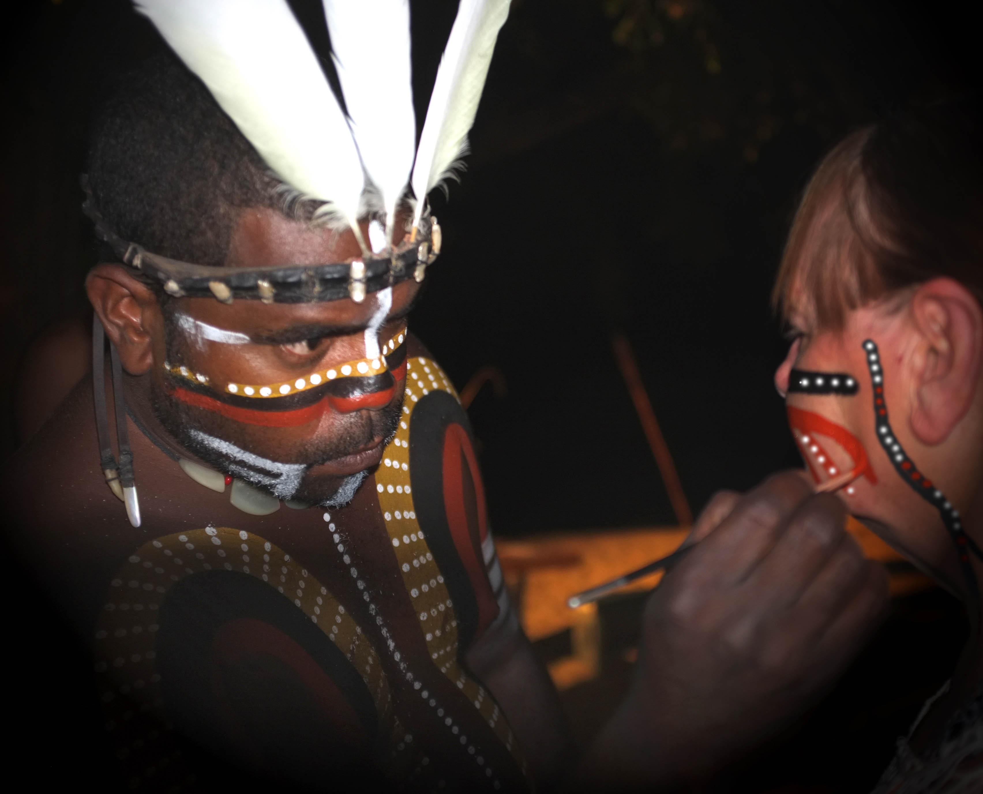 aboriginal face painting