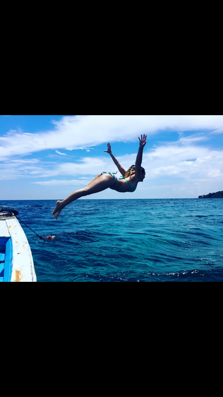 Diving off the boat
