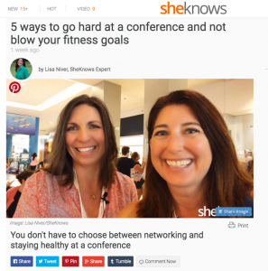 Lisa Niver on 5 Steps to stay sane at a conference with Sheknows