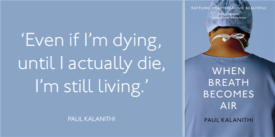 When Breath Becomes Air by Paul Kalanithi 2016 Hardcover Book