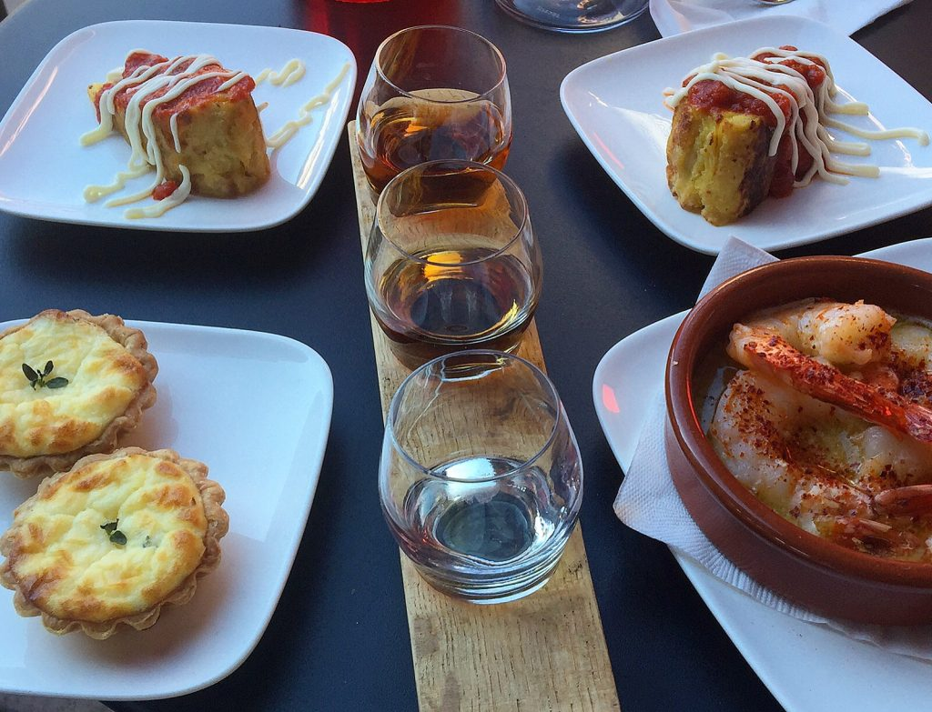 Sherry sampler at Pix Patisserie in Portland. (Photo credit: Melissa Curtin)