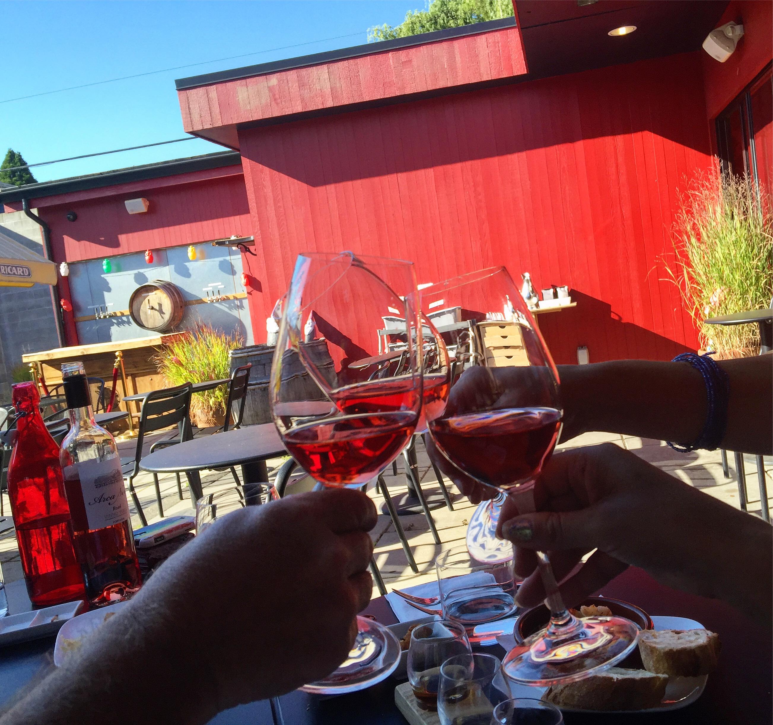 Portland, Oregon Sparkling rose toast at Pix Patisserie