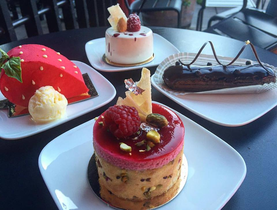 Decadent desserts at Pix Patisserie in Portland, Oregon.