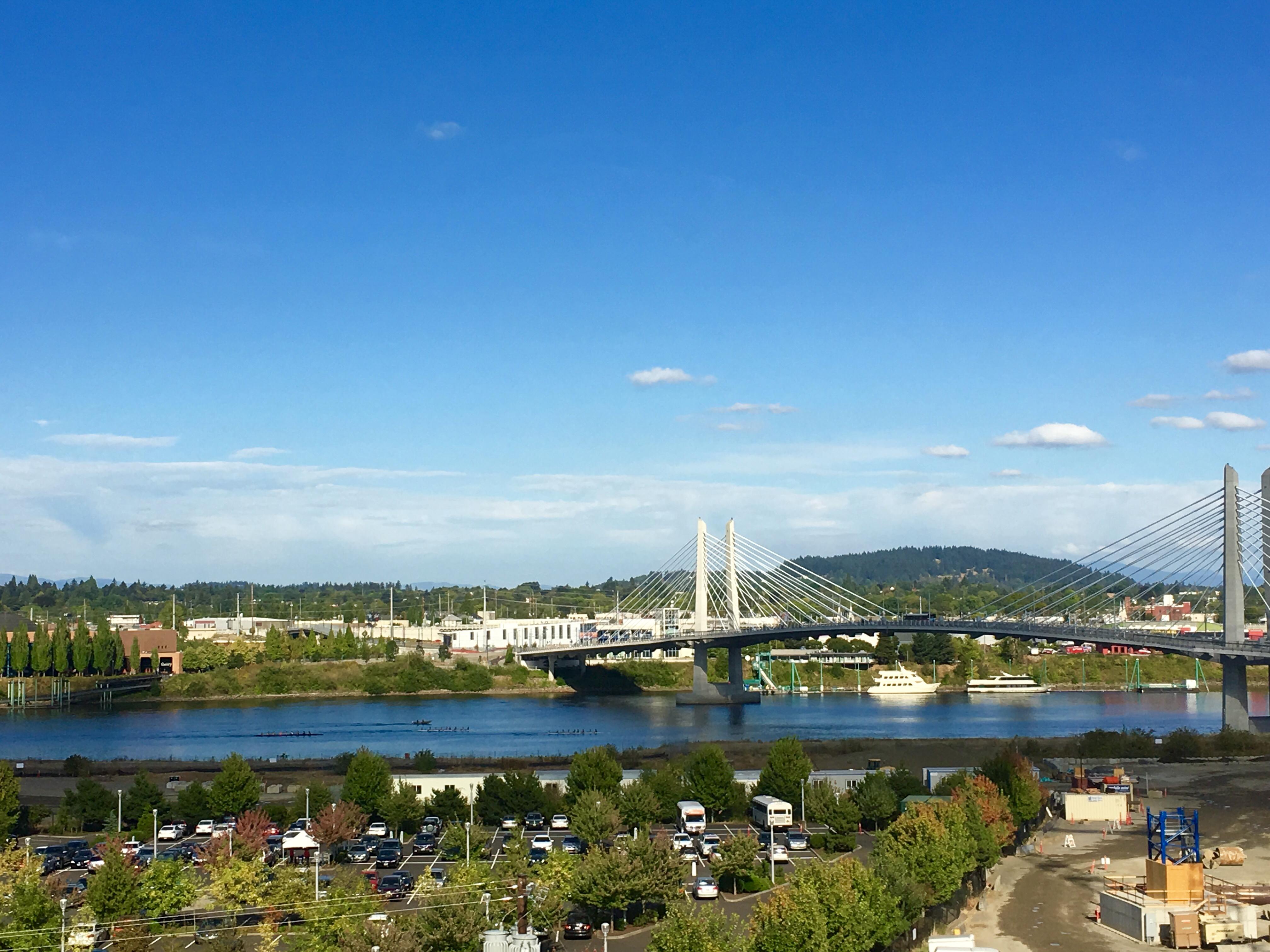 Biking in Portland, Oregon bridges