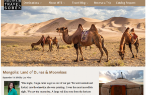 Lisa Niver writes about Mongolia: Land of Dunes & Moonrises
