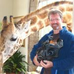 Giraffe with John