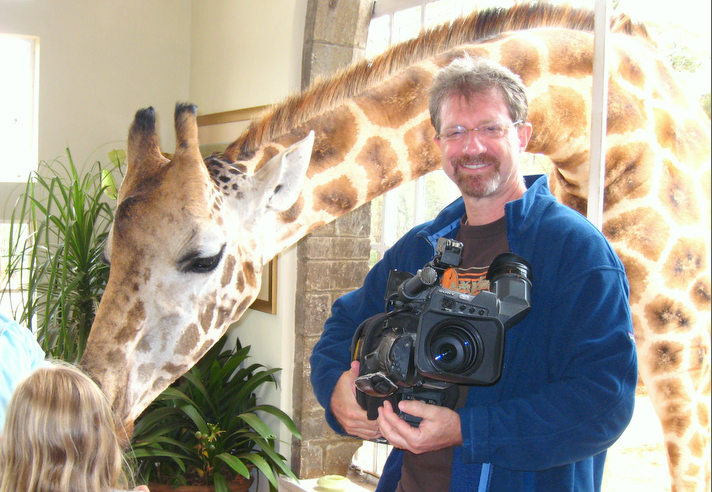 Giraffe with John