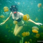 Lisa Niver in Jellyfish Lake photo by Bucket List Journeys
