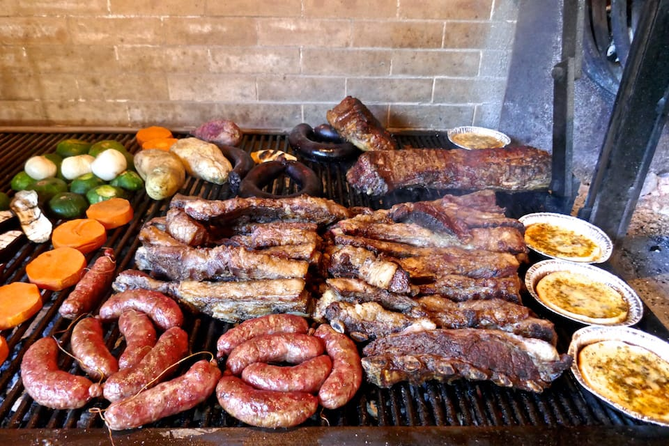 An Argentinian asado barbecue - meat lovers' paradise