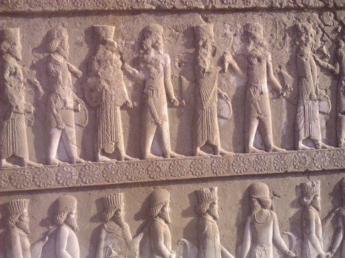 Wall sculptures at Persepolis