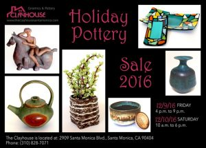 FIND YOUR HOMEMADE HOLIDAY GIFT AT THE CLAYHOUSE Holiday Sale 2016