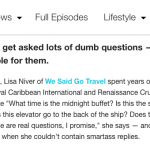 A Secrets Cruise Ship Staff LISA NIVER Thinks You Should Know