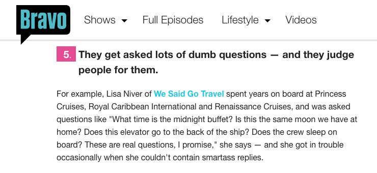 A Secrets Cruise Ship Staff LISA NIVER Thinks You Should Know