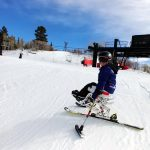 Saylor O'Brien Paralympic Development Athlete skiing with Lisa Niver