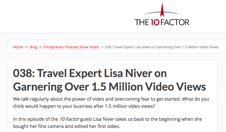 Lisa Niver Tim Meuchel on the 10 Factor
