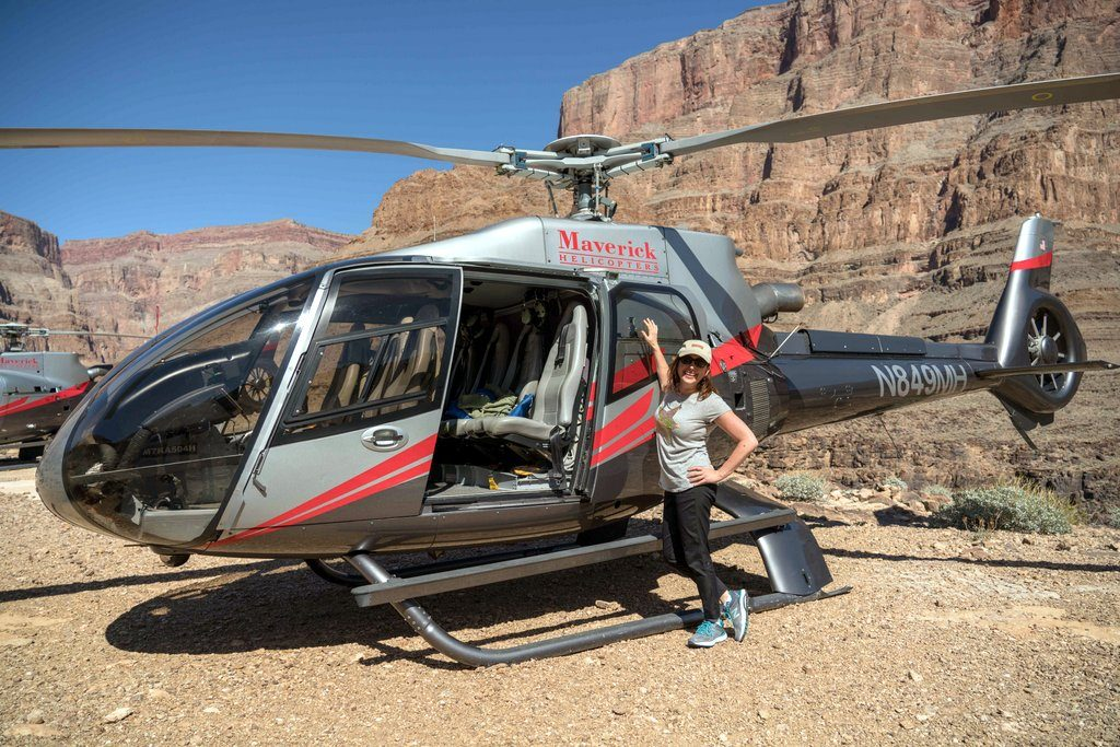 Lisa Niver at the Grand Canyon by Helicopter