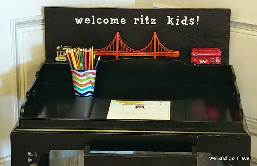 The Ritz Carlton SF Kids Check in here