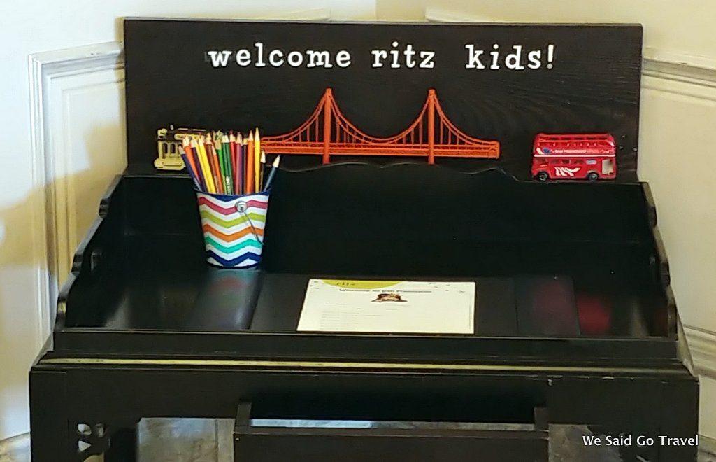 The Ritz Carlton SF Kids Check in here