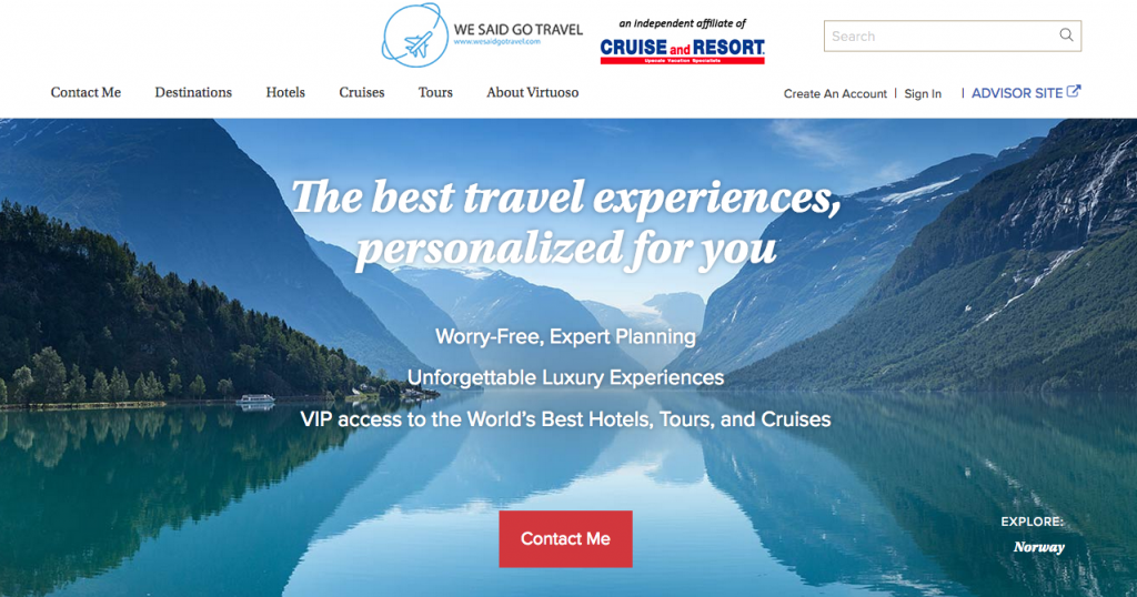 Lisa Niver Luxury Travel Advisor Virtuoso Home Page