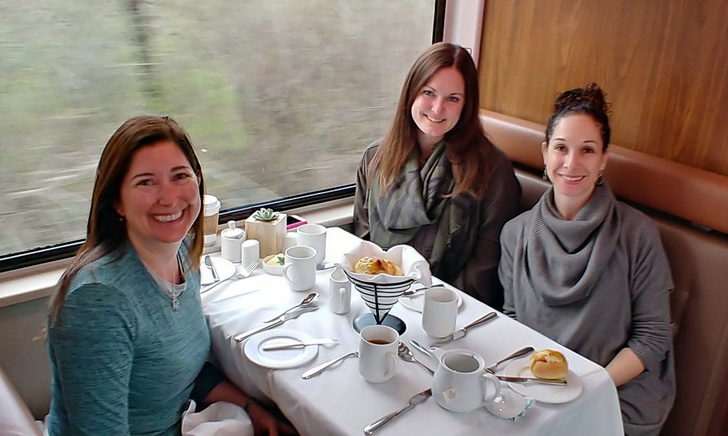 Breakfast on Rocky Mountaineer Train