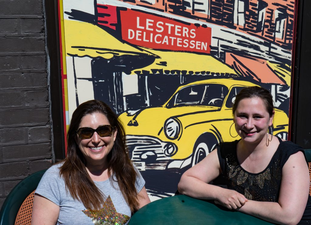 Lisa and Melissa at Lesters Deli