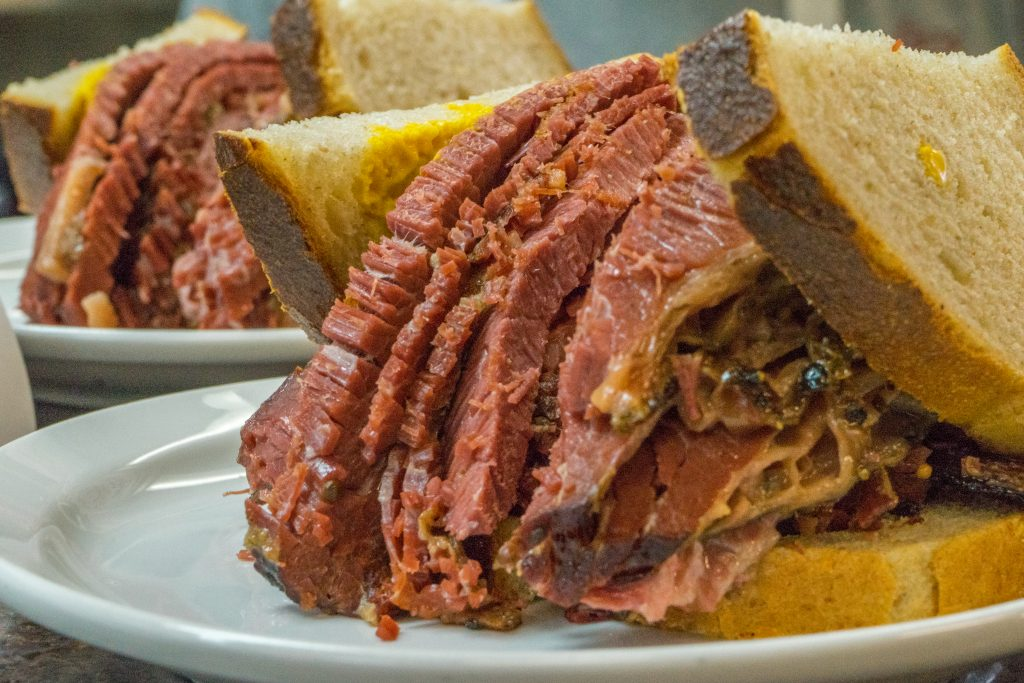 Schwartz's Deli: World famous smoked meat in Montreal. Photo by Paul Shiro