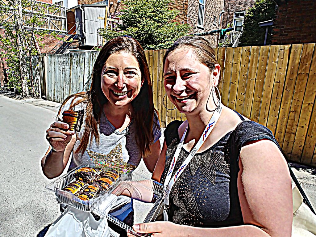 Lisa and Melissa Montreal Jewish Food tour