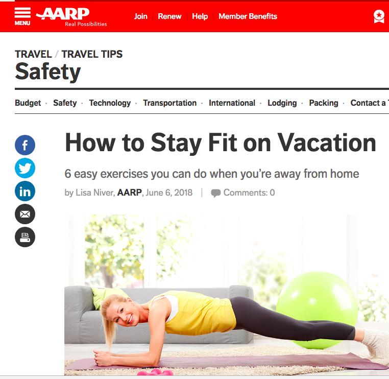 Lisa Niver writes about Travel for AARP