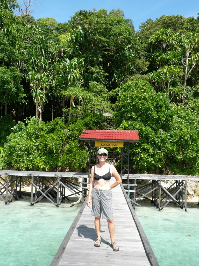 Lisa Niver in Kakaban Indonesia