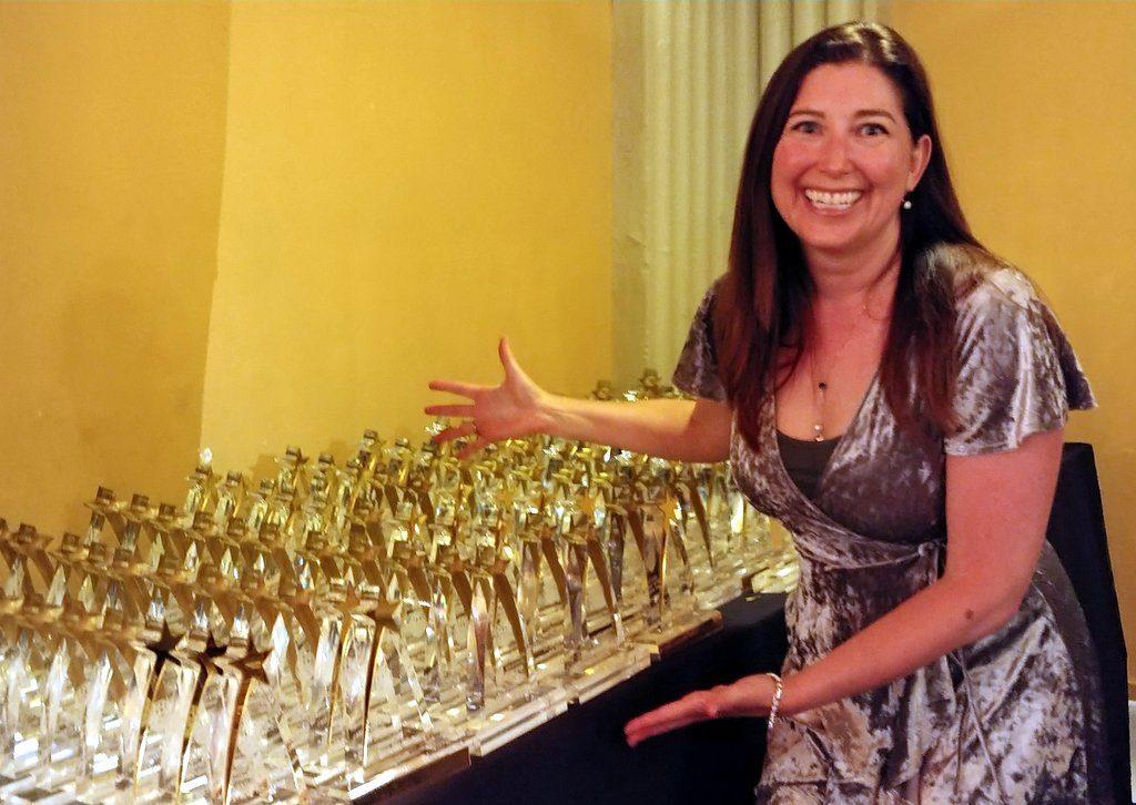 Lisa Niver at the Press Club Awards 2018