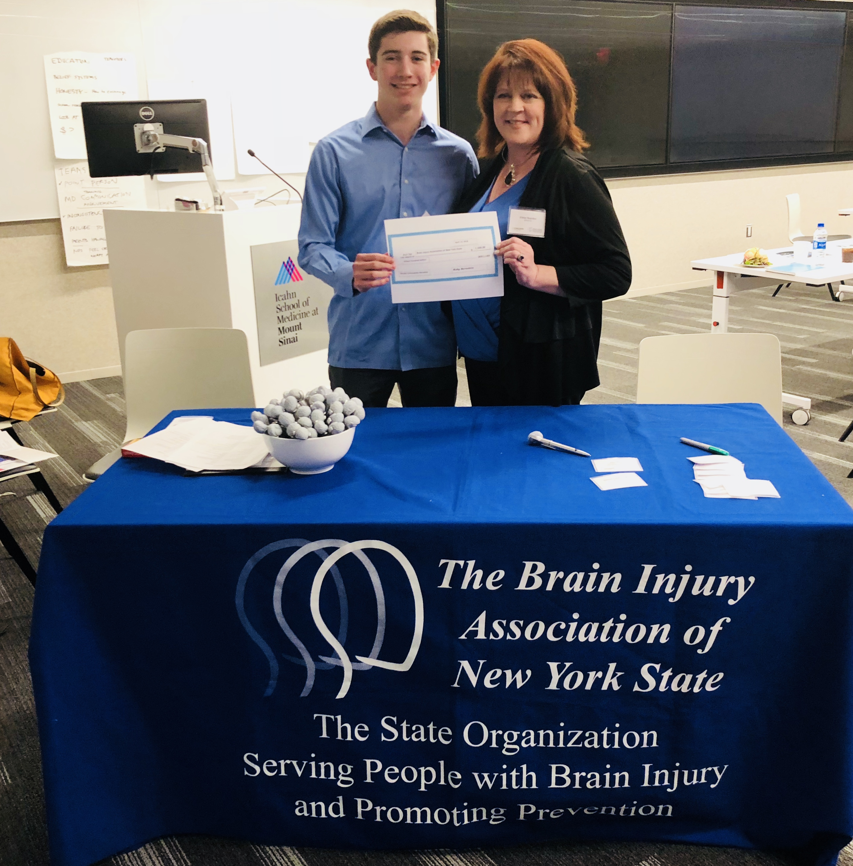 Koby Bernstein with BIANYS Executive Director, Eileen Reardon, April 12, 2018