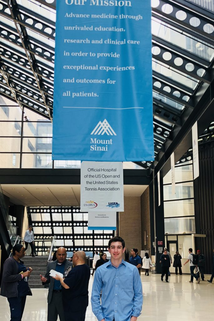 Koby Bernstein speaking at the Concussion Roundtable at Mount Sinai Hospital, April 2018