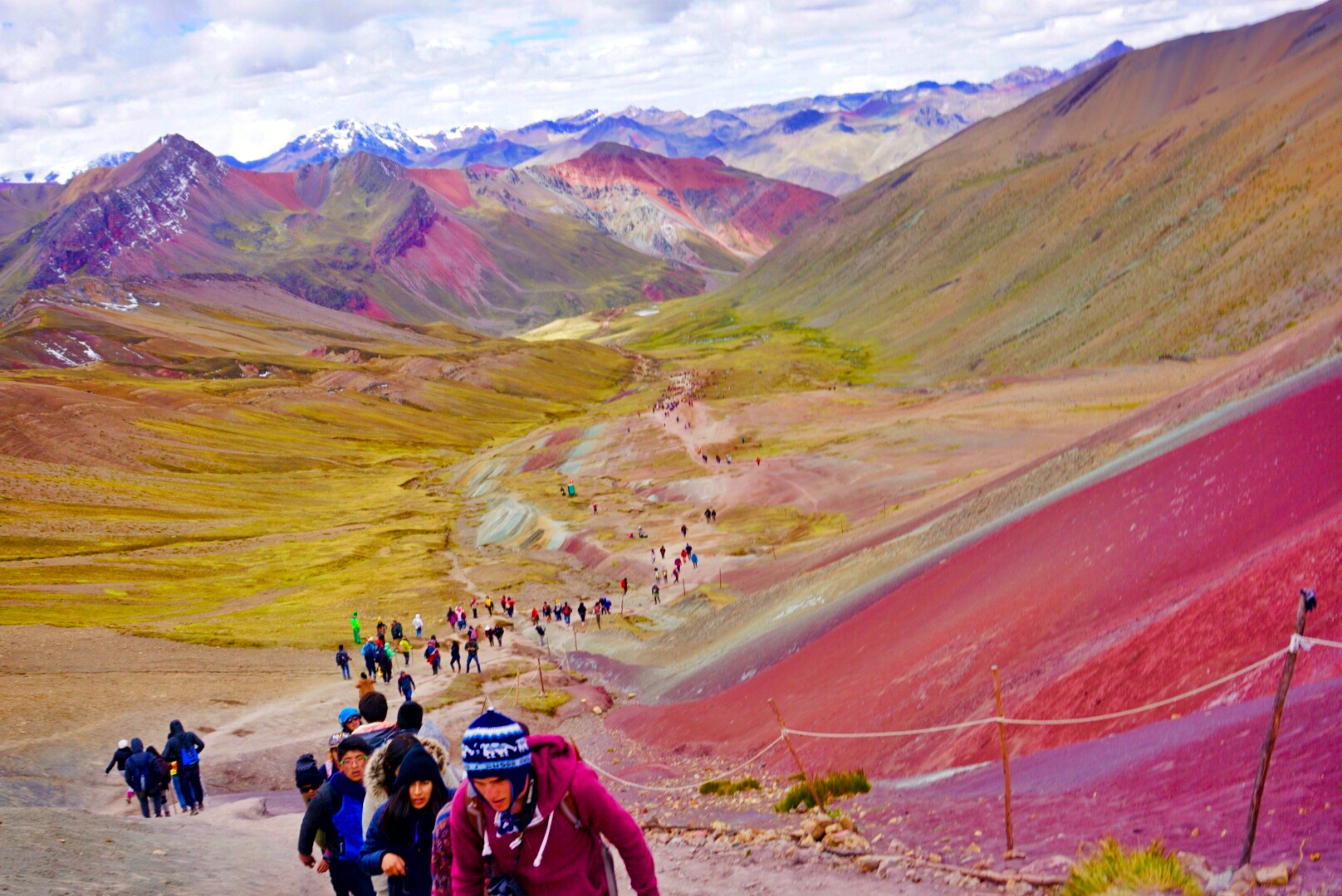 The torturous climb to Rainbow Mountain, Peru.