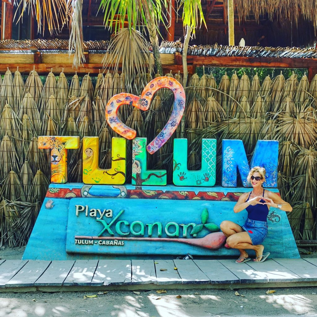 Welcome sign in Tulum