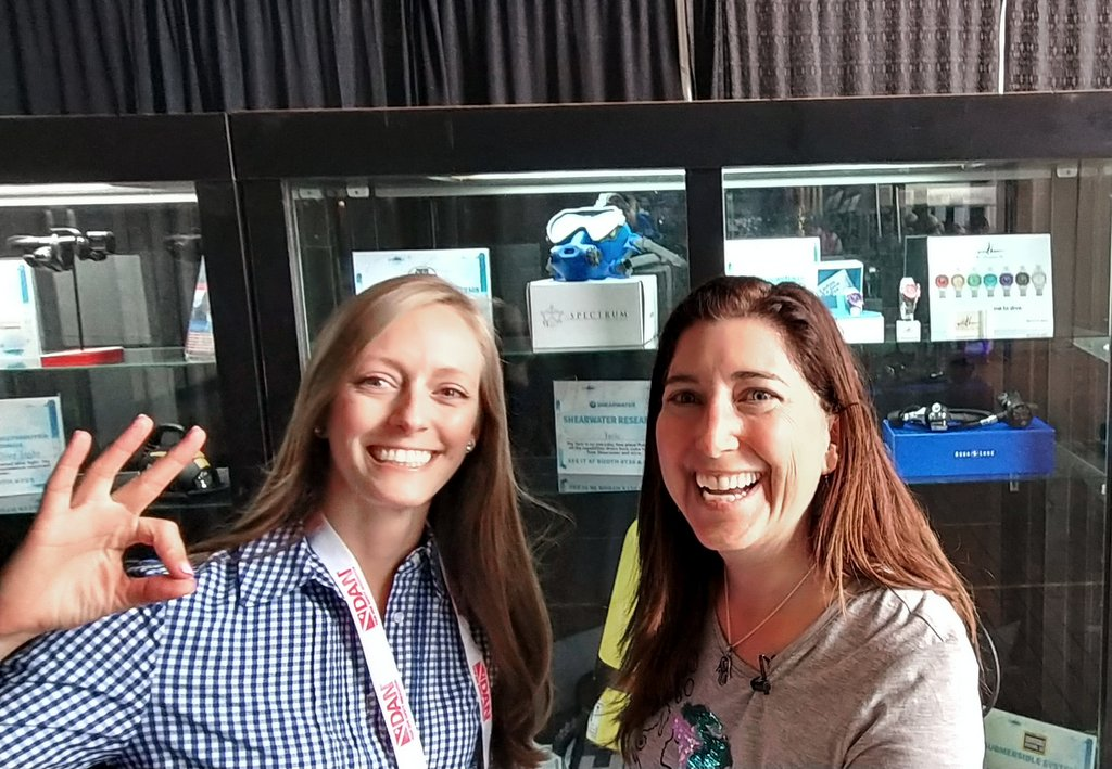 Tracy Young and Lisa Niver Scuba Show 2018