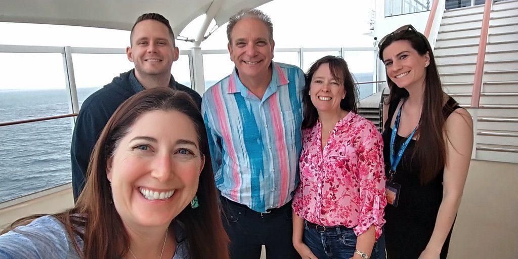 Lisa, Macrae, Tony, Kristy and Carolann on the Norwegian Bliss
