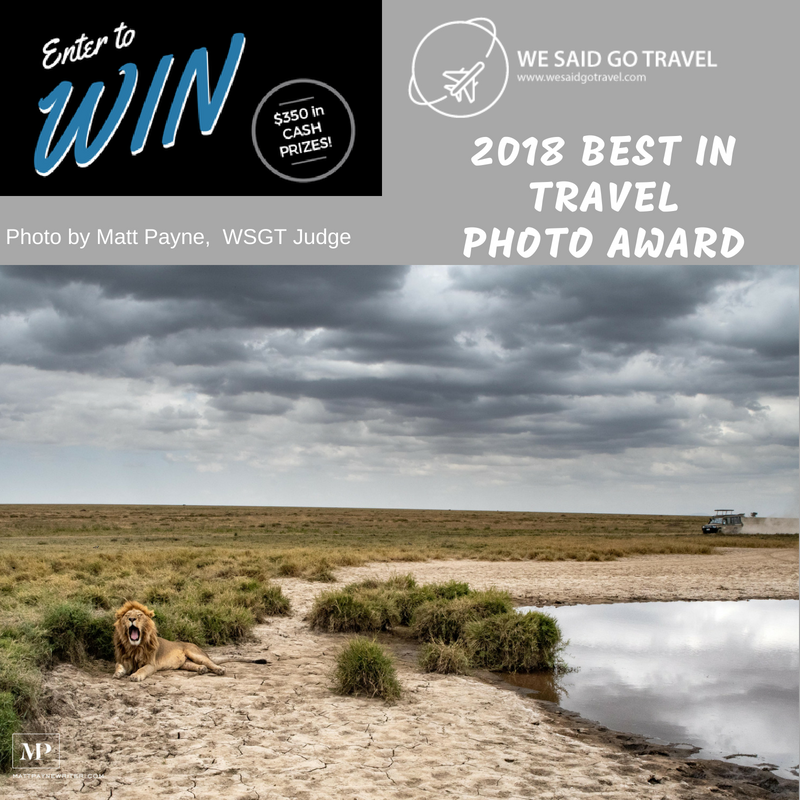 2018 We Said Go Travel Photo Award