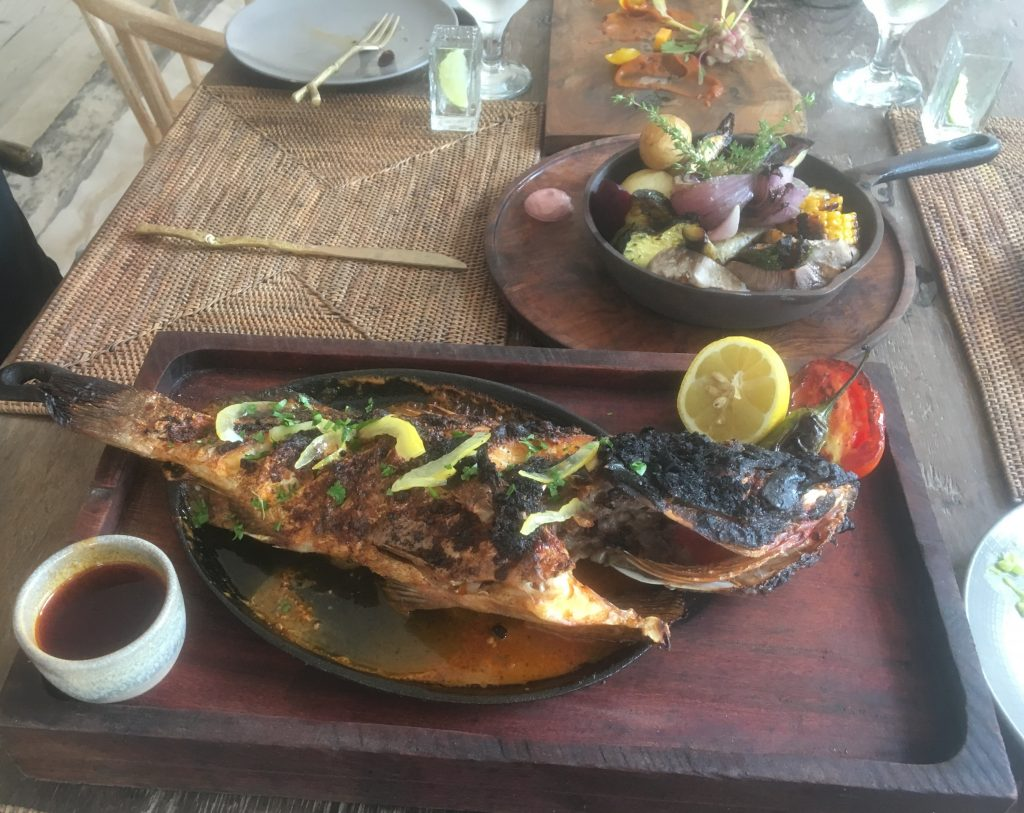 grilled fish at Be Tulum