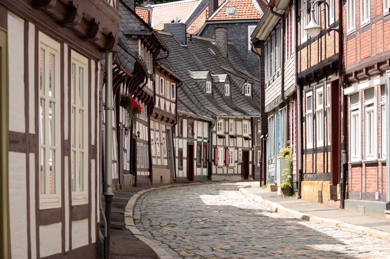 Goslar's Half-timbered Winding Street – Germany