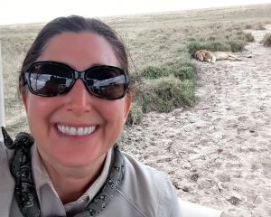 Lisa Niver: Selfie in Serengeti with a LION