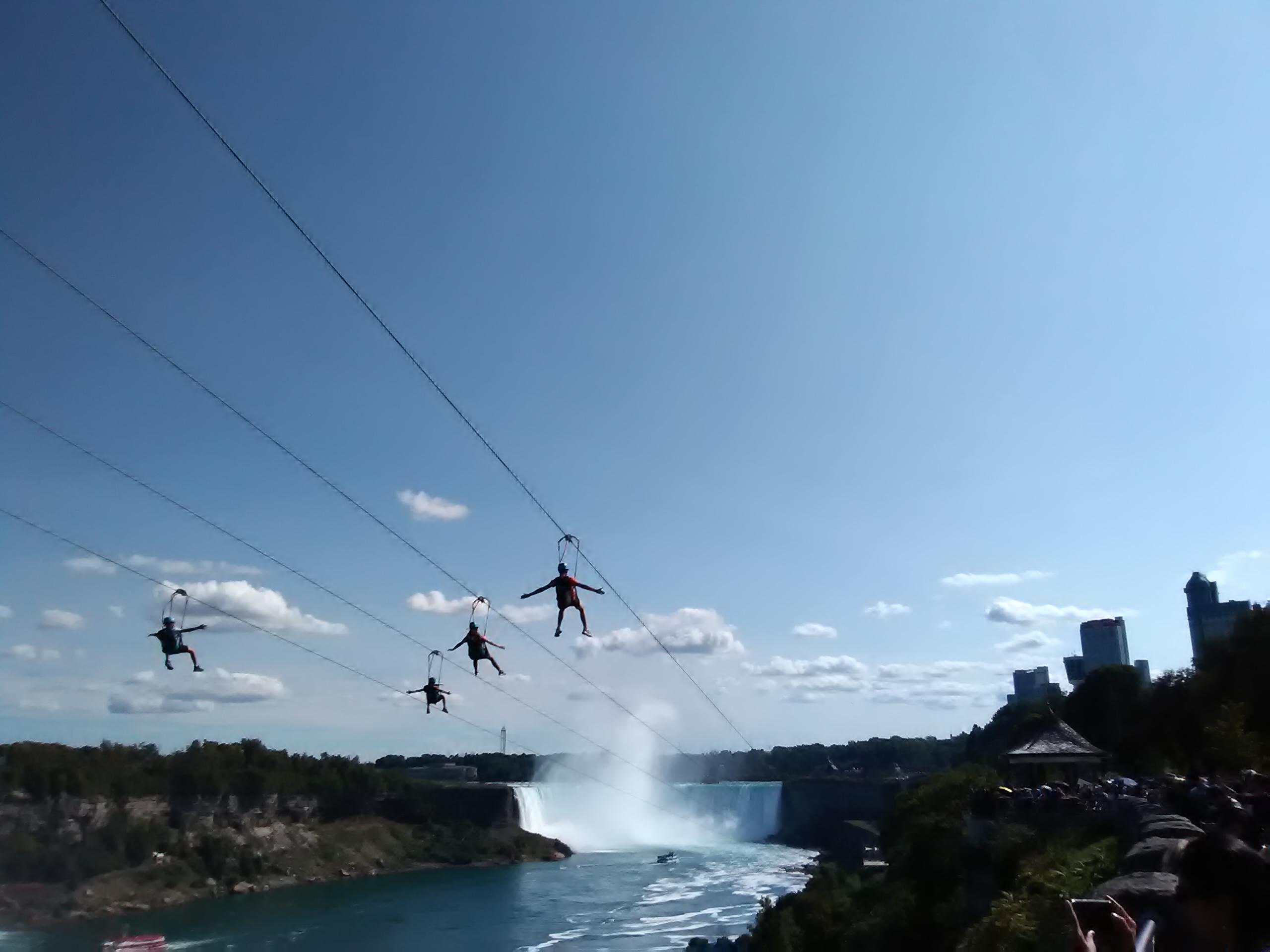 Ziplining Niagara falls, Canada