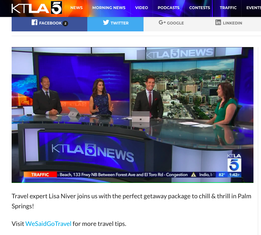 Lisa Niver Live on KTLA with Lu Parker Mark Mester