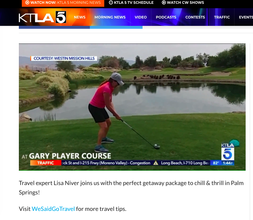 Lisa Niver 1st golf lesson on KTLA