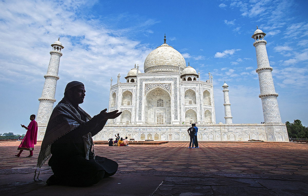 Divine prayer at Taj , India