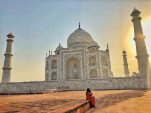 Sunrise on the Taj Mahal. Agra, India